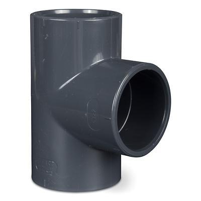PVC Rohr T Stück 90° mit 3x Klebemuffe